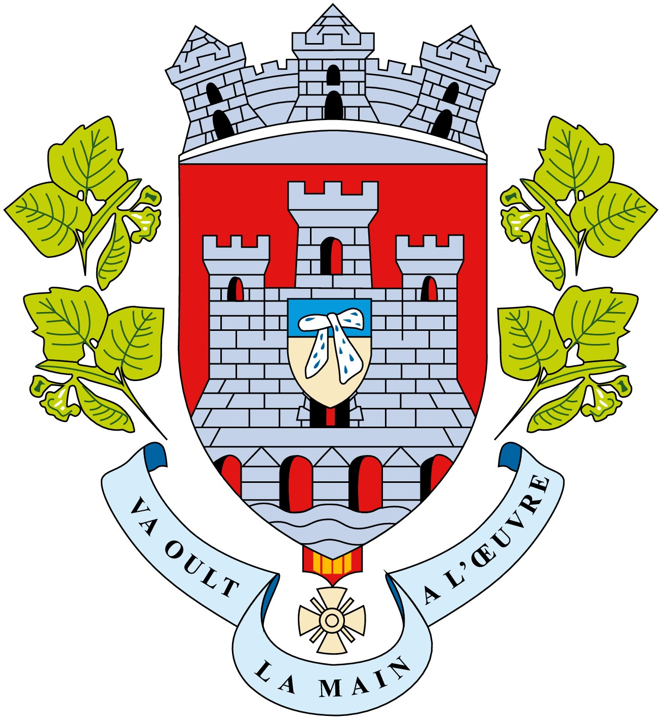 Blason de la mairie de L'isle-adam
