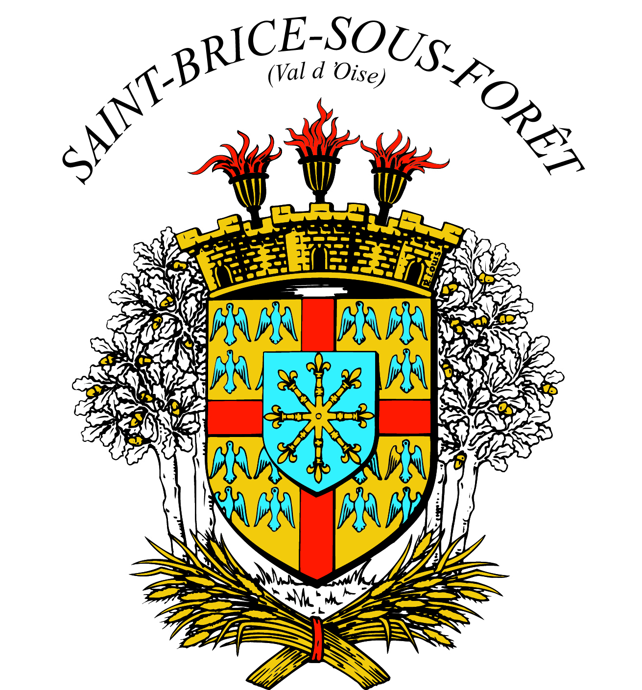 Blason de la mairie de Saint-brice-sous-foret
