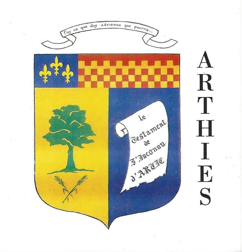 Blason de la mairie de Arthies
