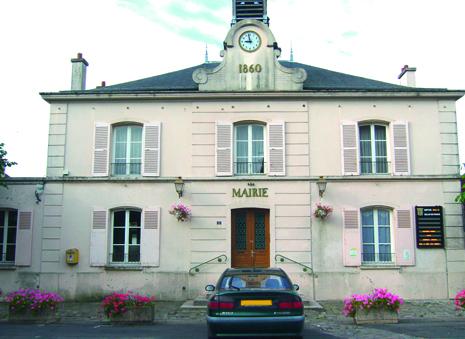 façade de la mairie de Belloy-en-france