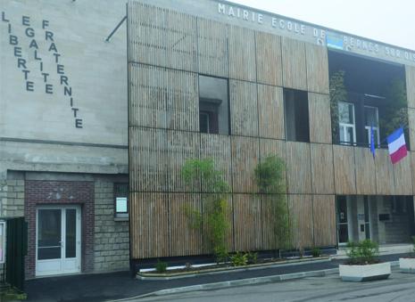 façade de la mairie de Bernes-sur-oise