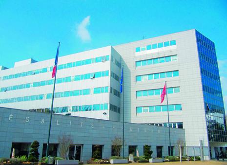 façade de la mairie de Cergy
