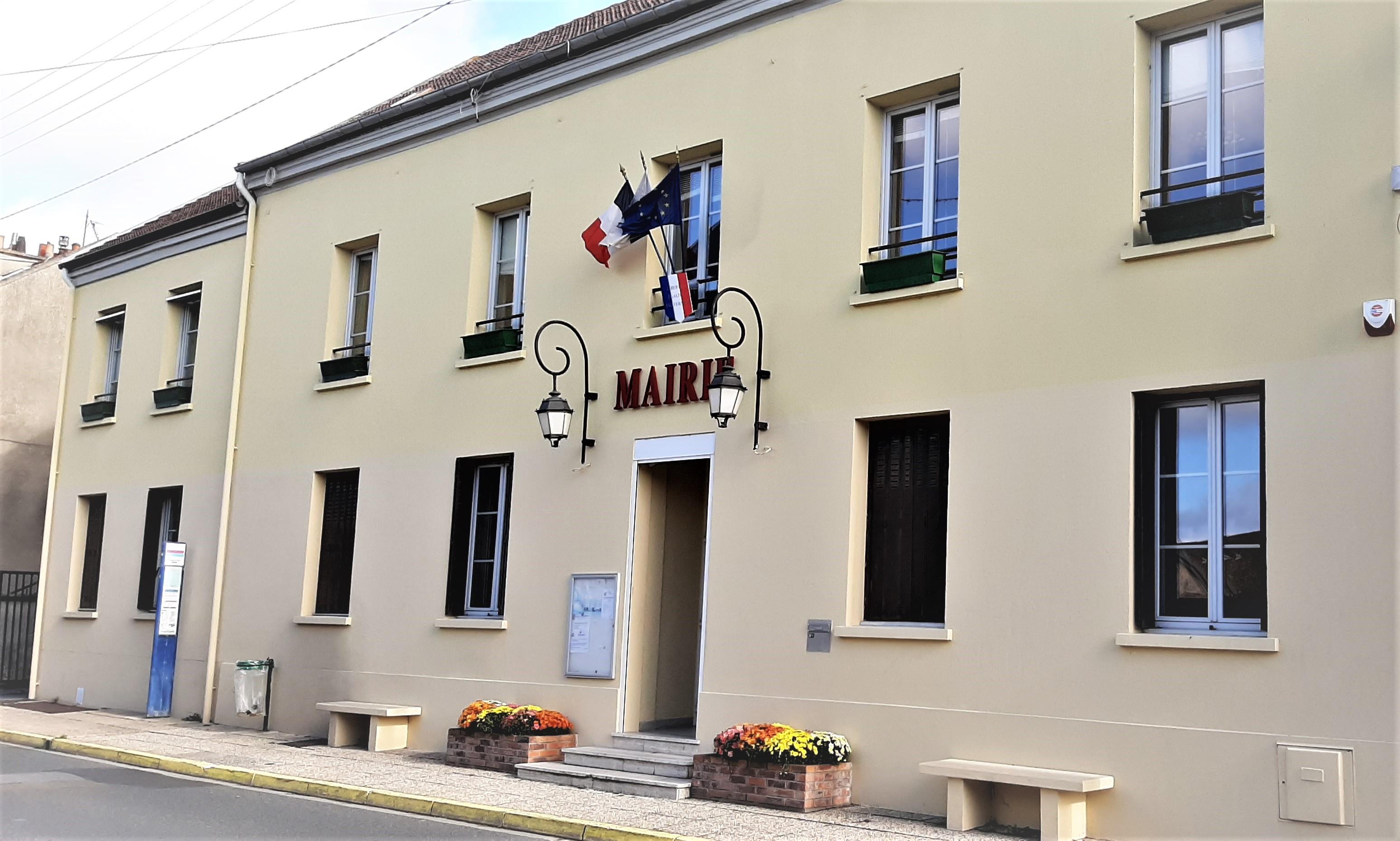 façade de la mairie de Bruyeres-sur-oise