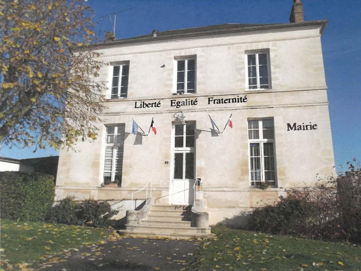 façade de la mairie de Clery-en-vexin