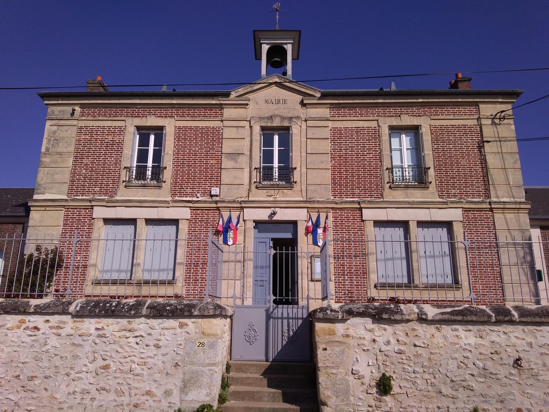 façade de la mairie de Haravilliers