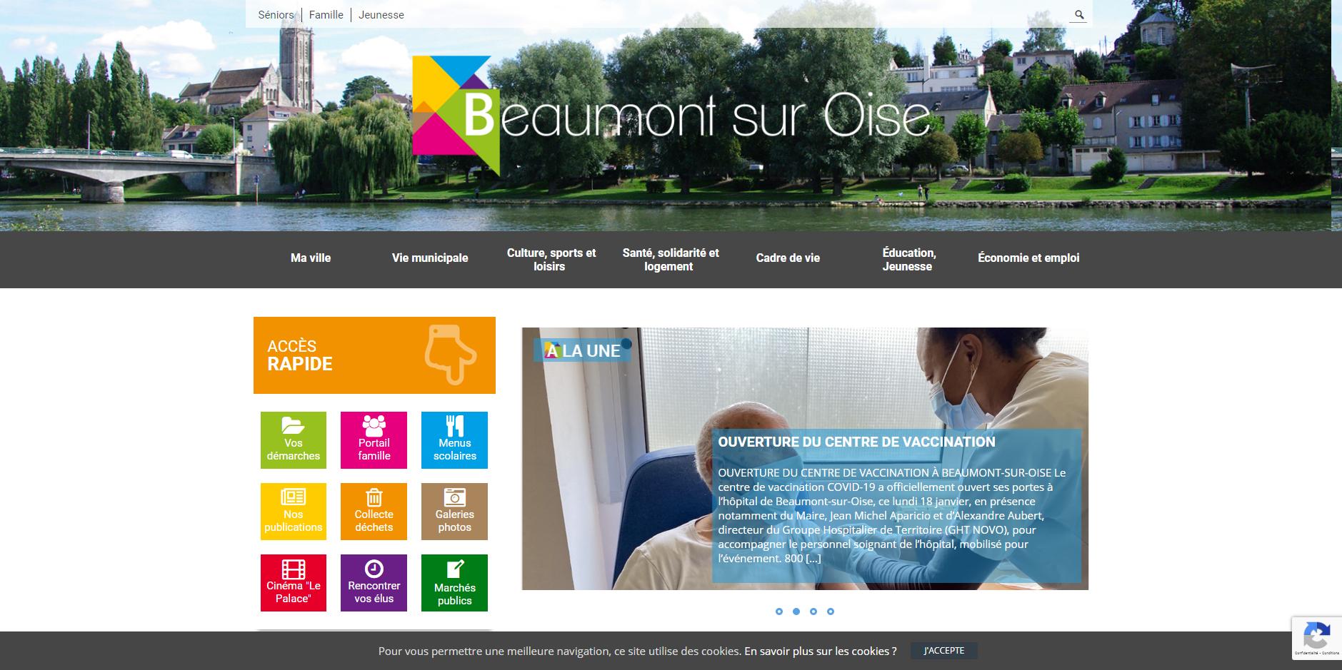 site de Beaumont sur Oise