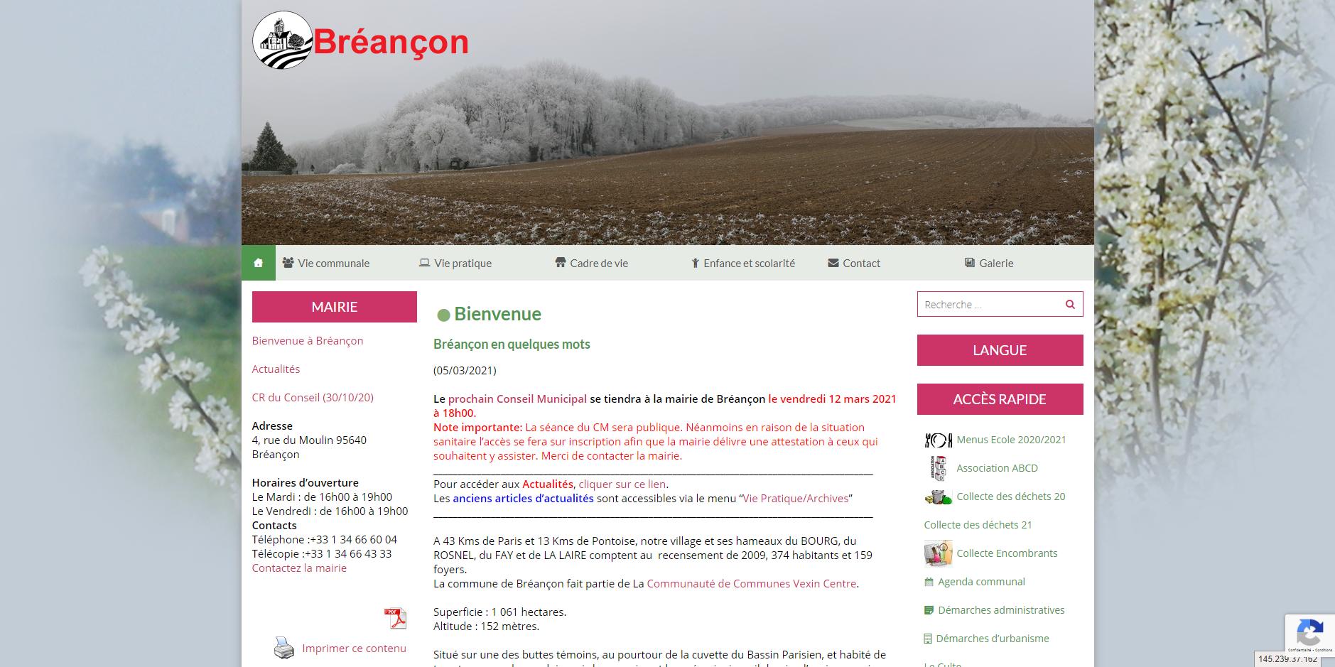 site de Breancon