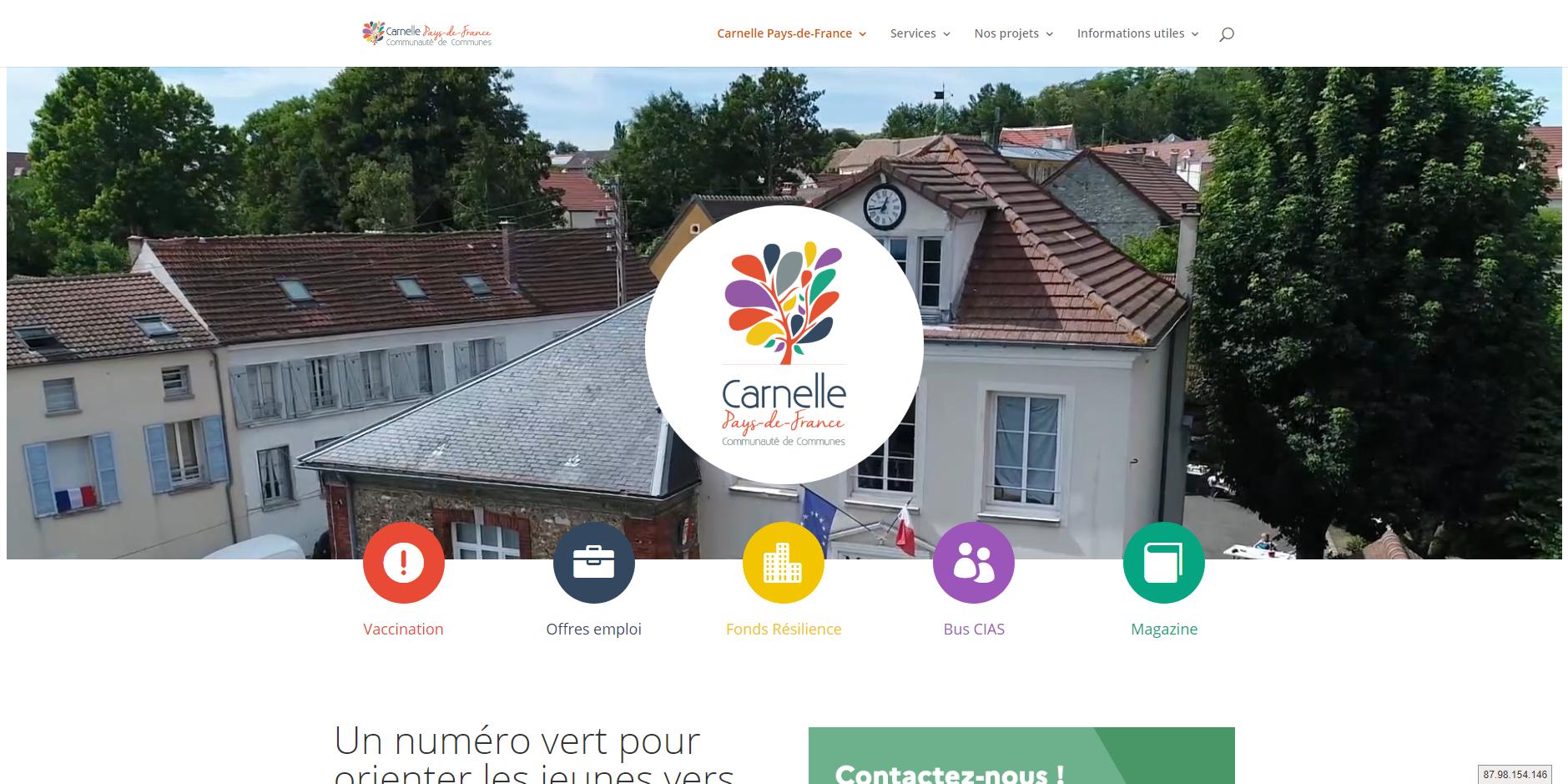 site de CC Carnelle-Pays de France