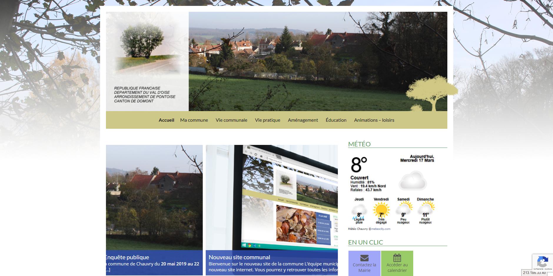 conception du site de Chauvry par l'union des maires du Val-d'Oise