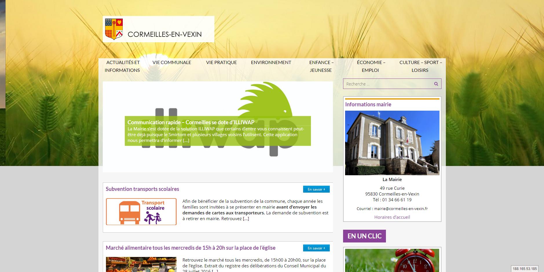 site de Cormeilles-en-vexin