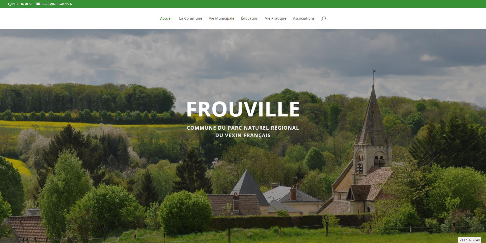 conception du site de Frouville par l'union des maires du Val-d'Oise