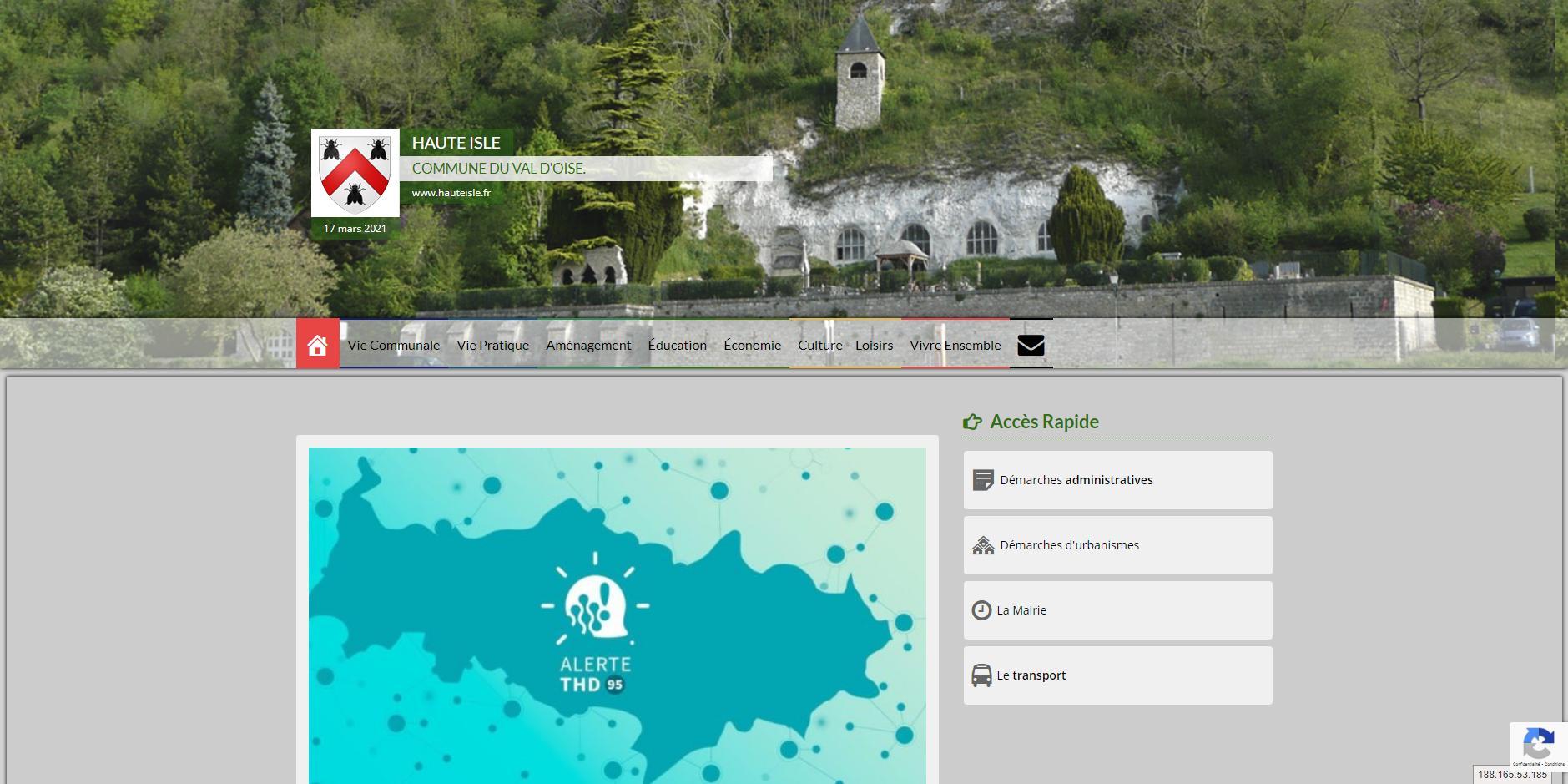 site de Haute Isle