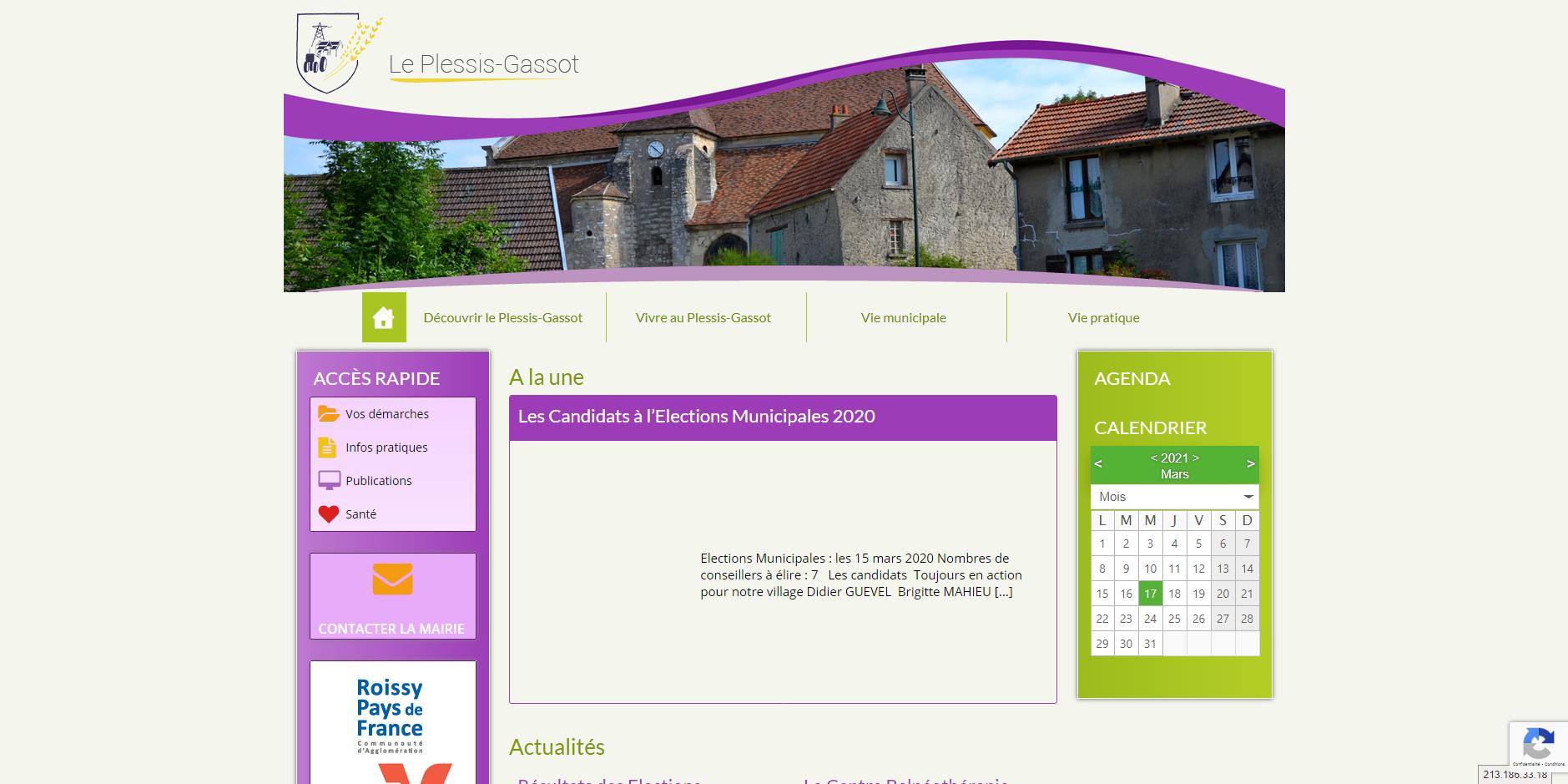 site de Le Plessis-Gassot