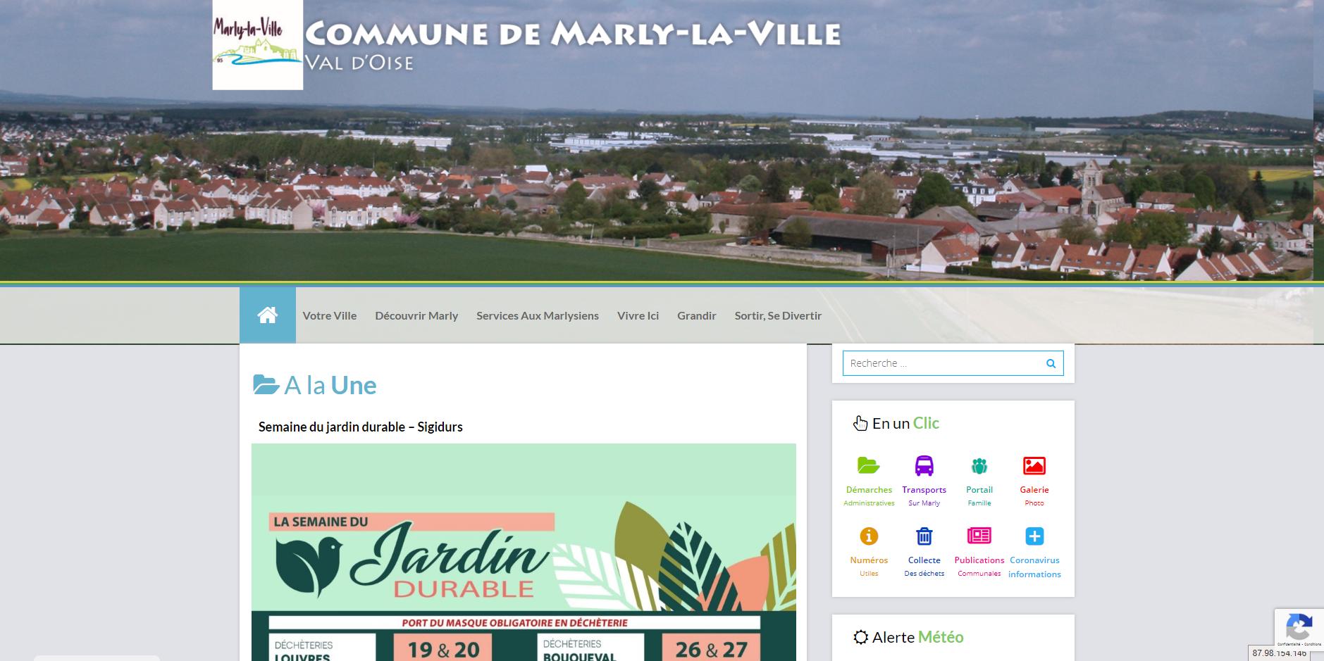 site de Marly-la-ville
