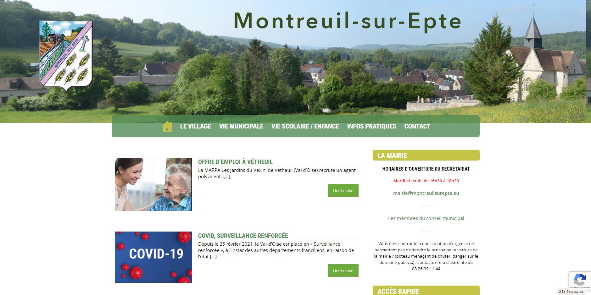 site de Montreuil-sur-Epte