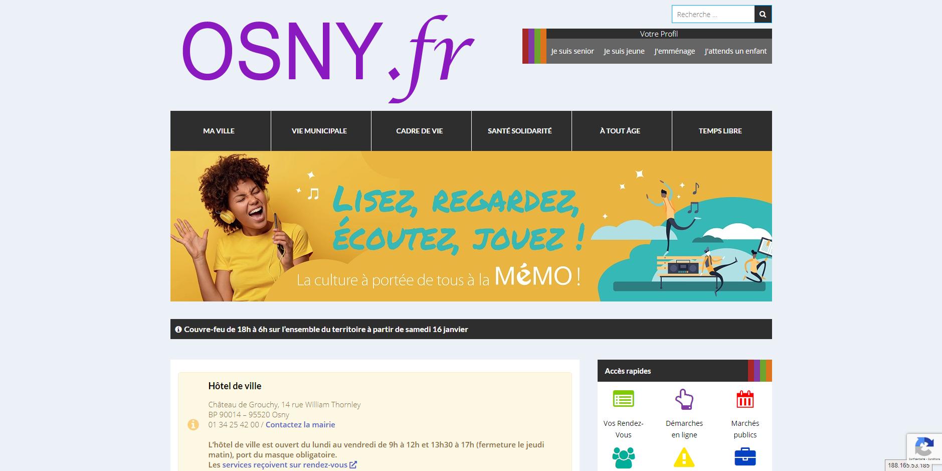 site de Osny