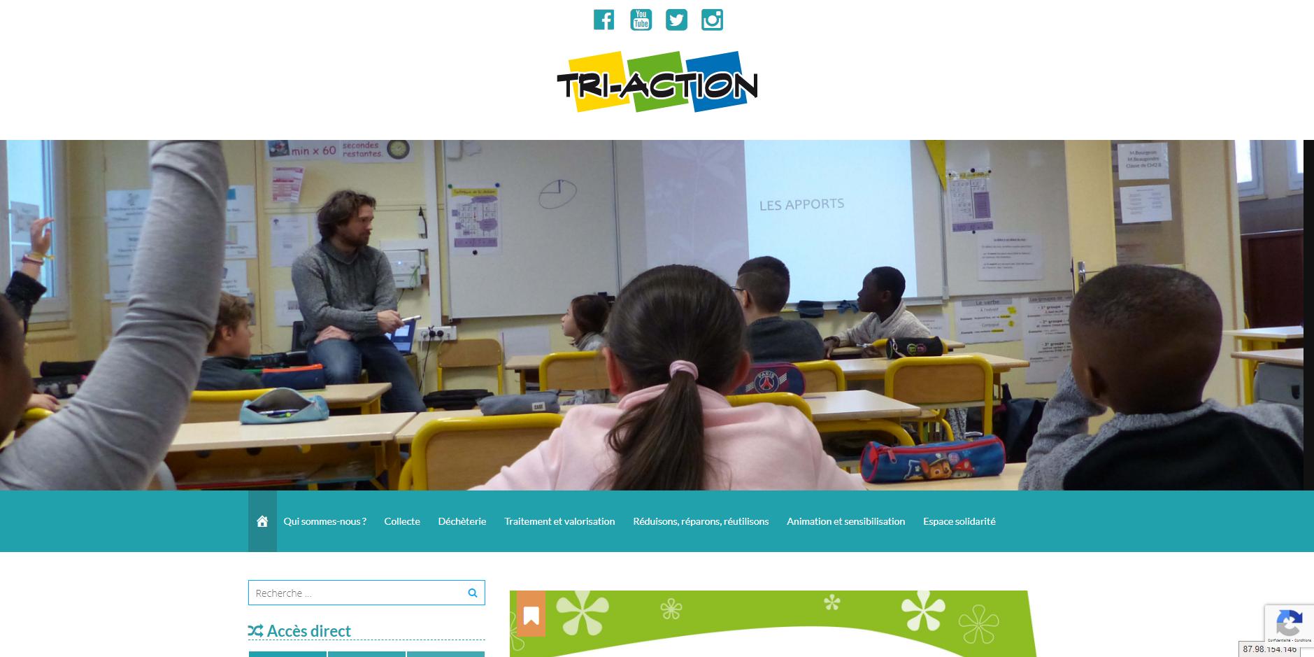 site de Tri-Action