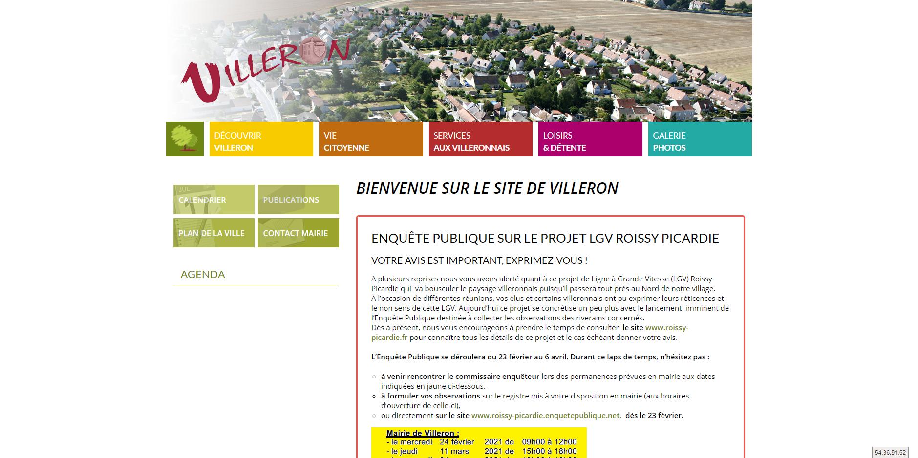 site de Villeron